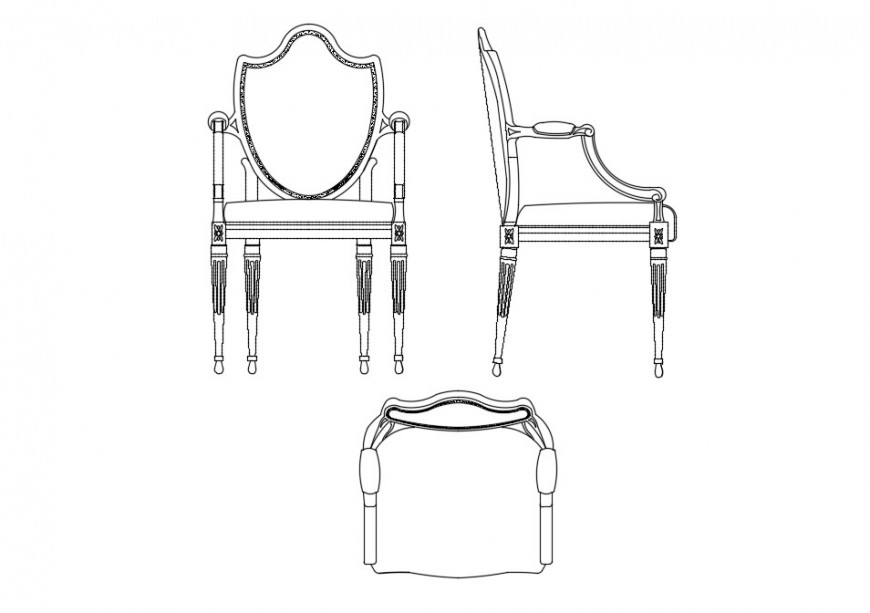 how to draw an arm chair small arm chair all sided elevation block cad drawing how draw chair an arm to