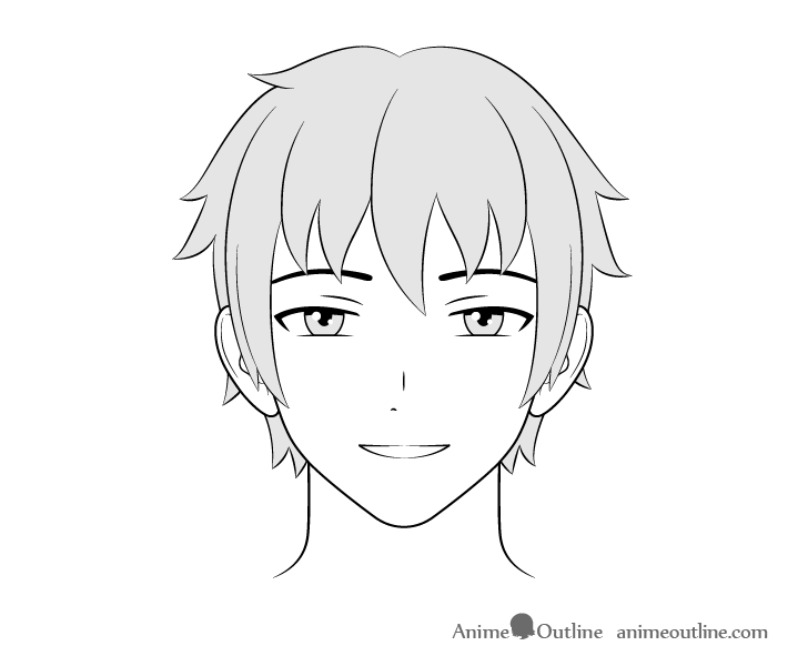how to draw anime boys how to draw male anime characters step by step animeoutline anime boys draw how to