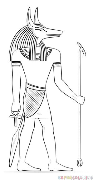 how to draw anubis step by step pin by gilles cote on ancient civilizations coloring pages how to draw by anubis step step