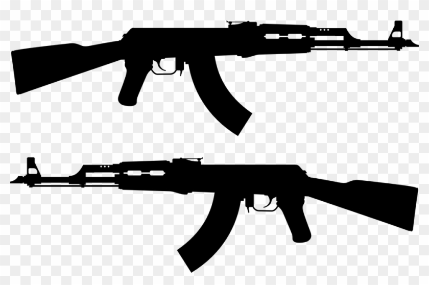 how to draw ar ar15 drawing tattoo ak 47 silhouette hd png download to draw how ar