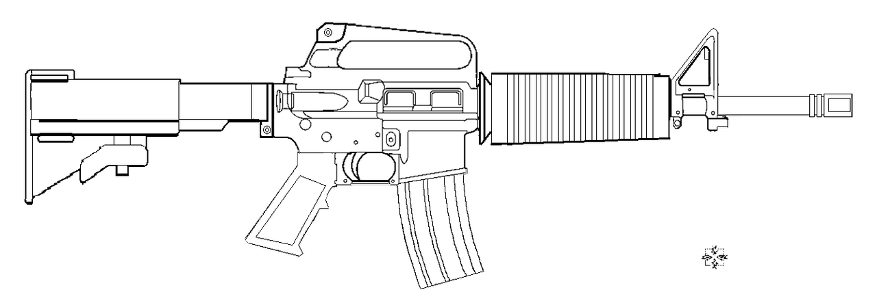 how to draw ar colt m4 a1 lineart by 96blackarrow on deviantart ar how draw to
