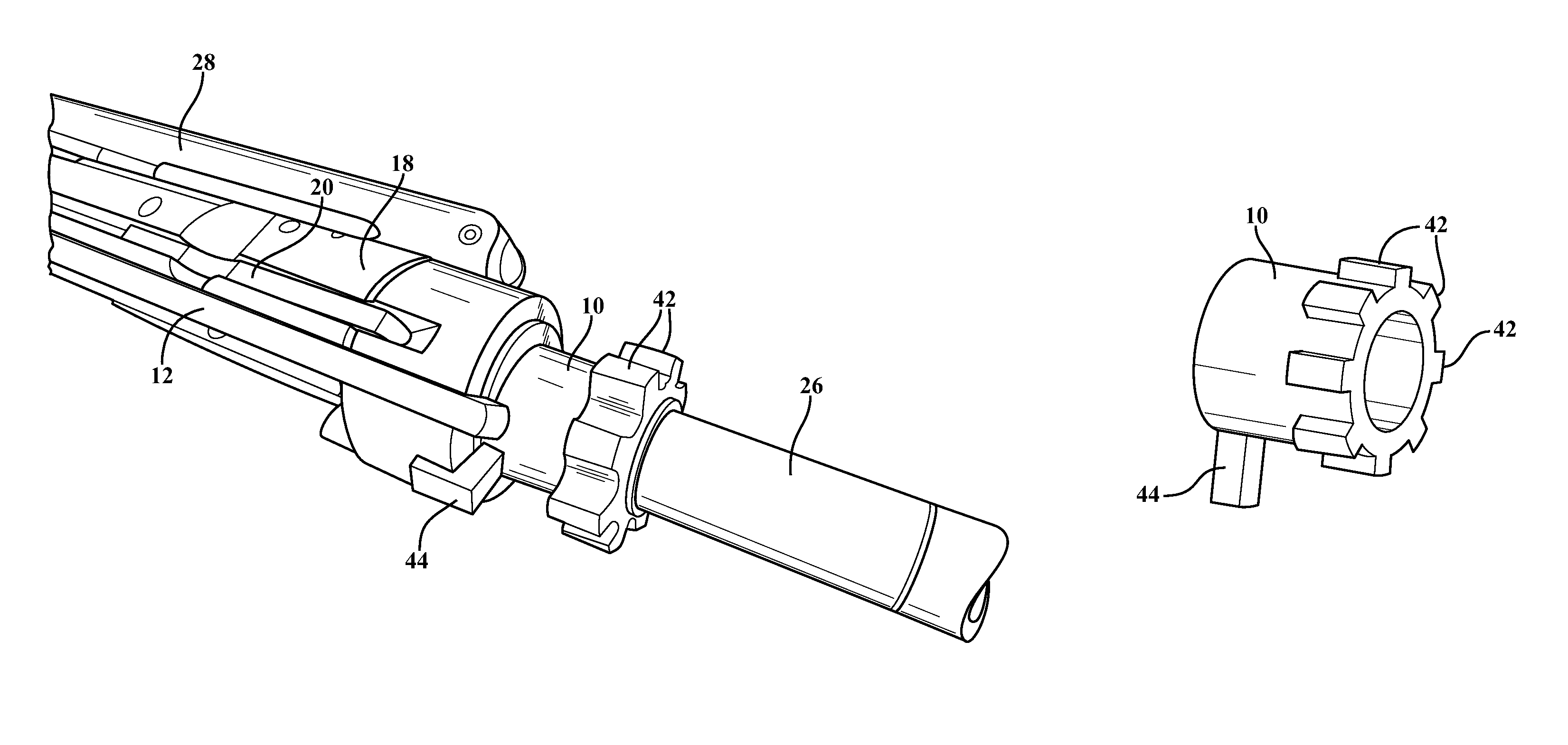 how to draw ar patent us8726560 chamber insert lock installed within an ar draw to how