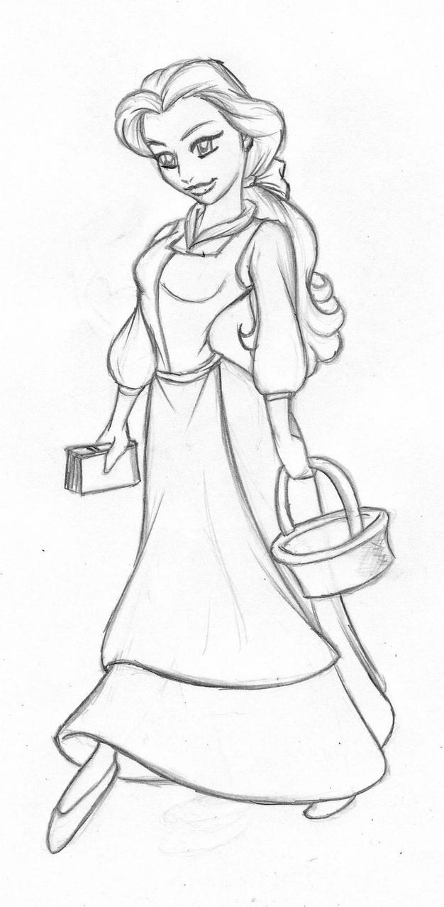how to draw belle the princess 30 day art challenge days 11 14 belle rebecca39s drawing the belle draw princess to how
