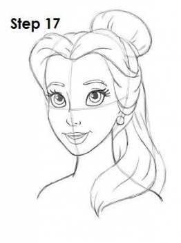 how to draw belle the princess how to draw belle cartoon princess belle the princess draw to how