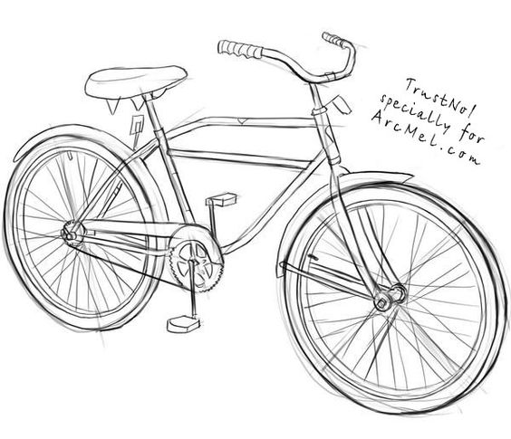 how to draw bicycle bicycle sketches bike drawing bicycle illustration how bicycle draw to