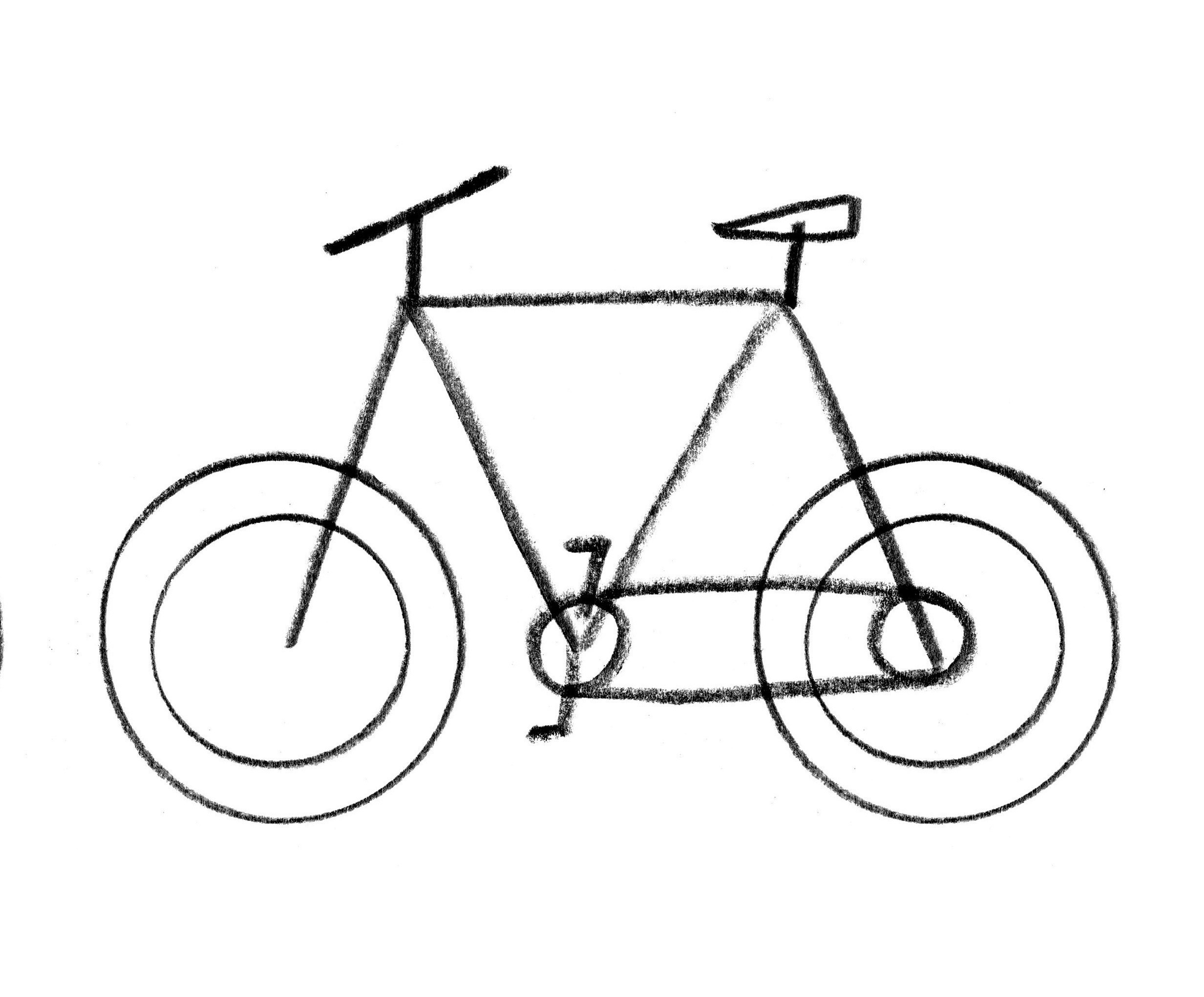 how to draw bicycle download premium vector of hand drawn penny farthing draw how bicycle to