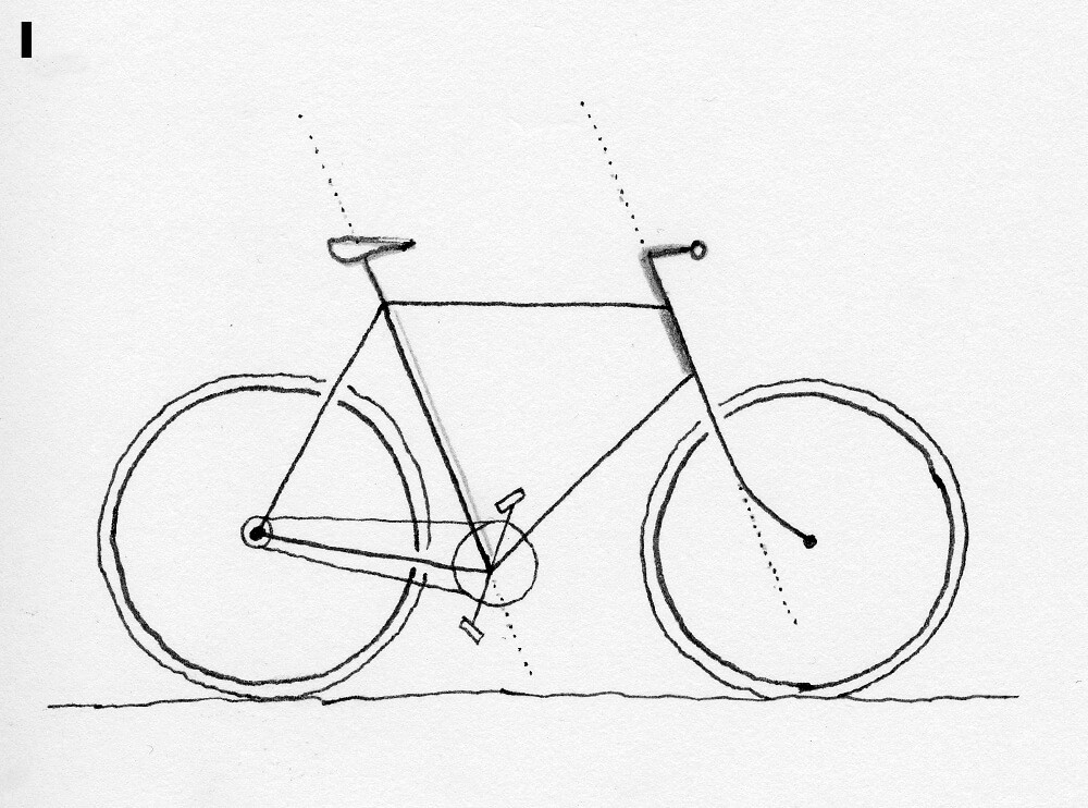 how to draw bicycle easy bicycle drawing at getdrawings free download draw bicycle how to