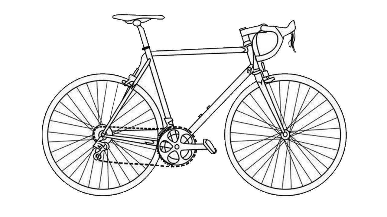 how to draw bicycle learn how to draw a cute bicycle two wheelers step by draw how bicycle to