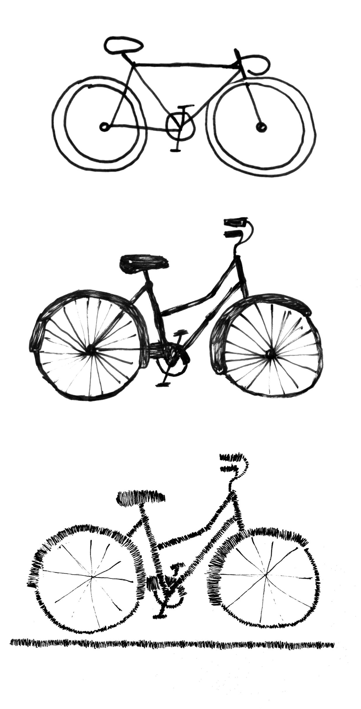 how to draw bicycle simple bicycle drawing at getdrawings free download how to draw bicycle