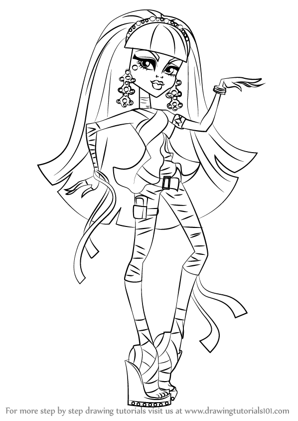 how to draw clawdeen wolf easy learn how to draw cleo de nile from monster high monster draw wolf how to easy clawdeen