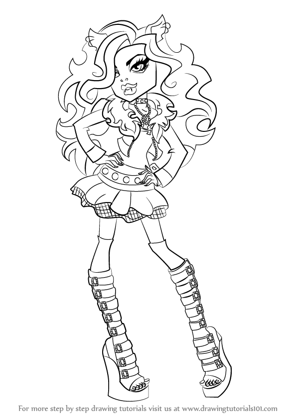 how to draw clawdeen wolf easy step by step how to draw clawdeen wolf from monster high wolf how draw to clawdeen easy
