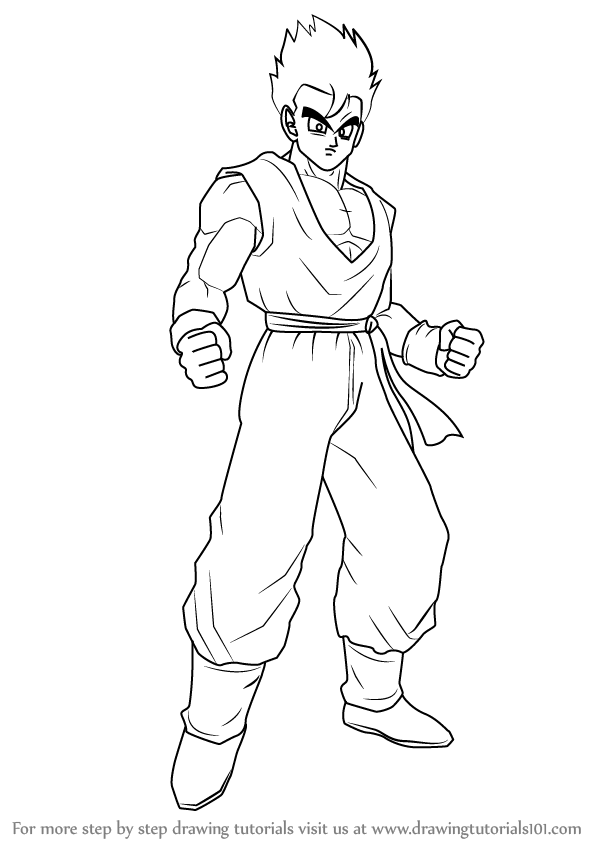 how to draw dragon ball z dargoart drawing of gogeta step 6 how to draw gogeta z dragon to ball draw how