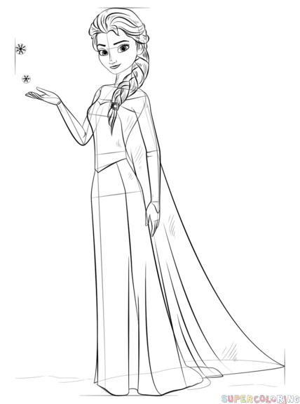 how to draw elsa from frozen how to draw elsa from frozen step by step drawing elsa how frozen to from draw