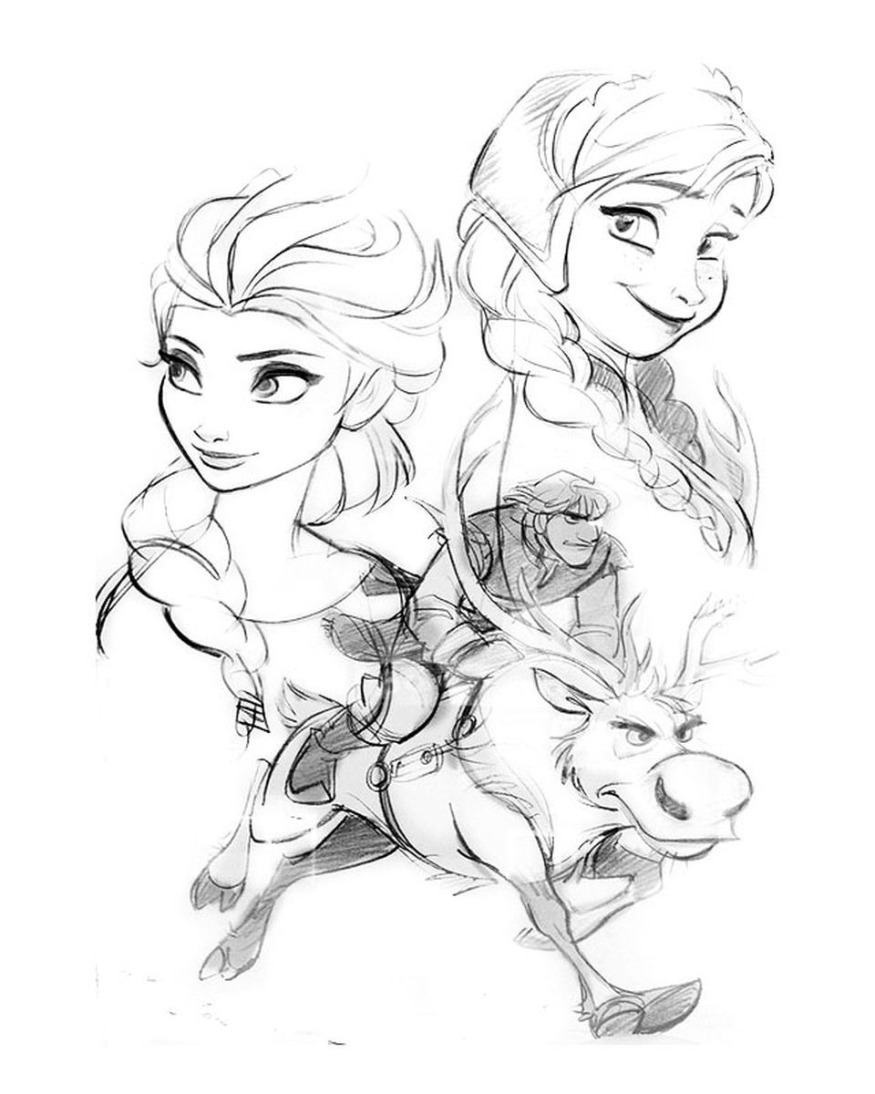 how to draw frozen characters frozen characters drawing at getdrawings free download how to frozen characters draw