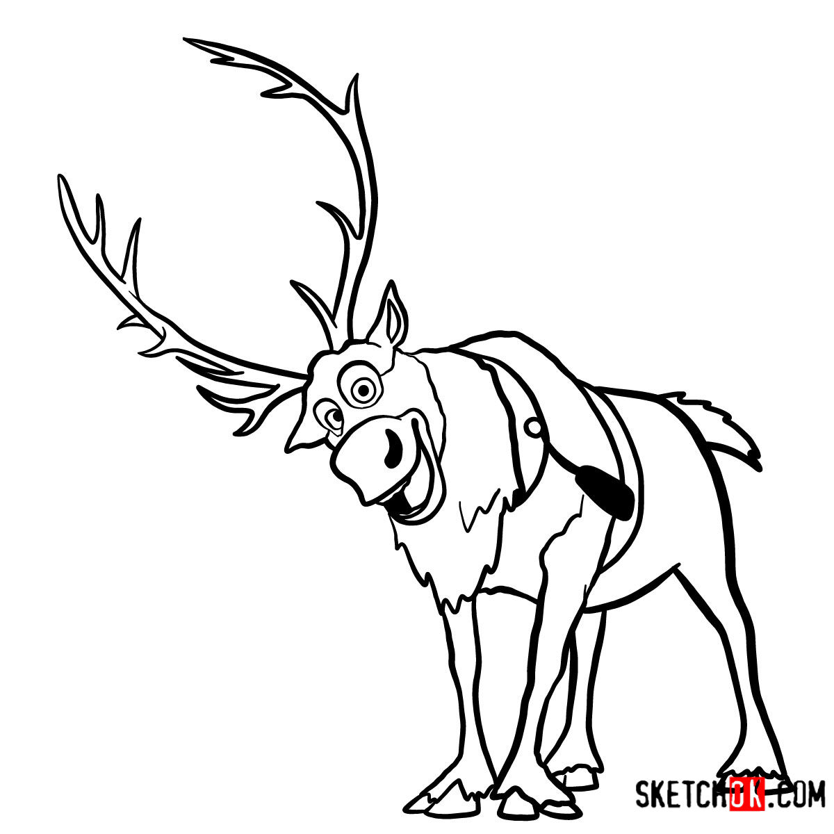 how to draw frozen characters sven from frozen coloring pages lluviaeneldesvan characters how frozen draw to