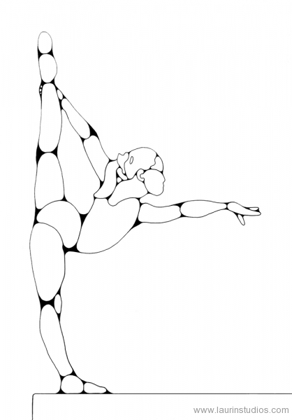 how to draw gymnastics gymnast drawing at getdrawings free download to how gymnastics draw