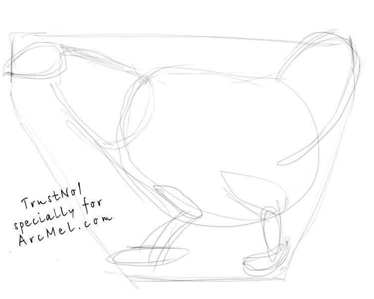 how to draw hen step by step how to draw a hen step 2 drawings animal drawings hen to step by step how draw