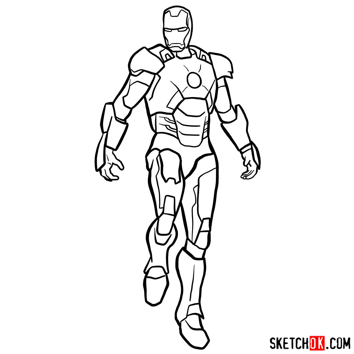 how to draw ironman step by step easy iron man drawing at getdrawings free download draw to ironman by step how step