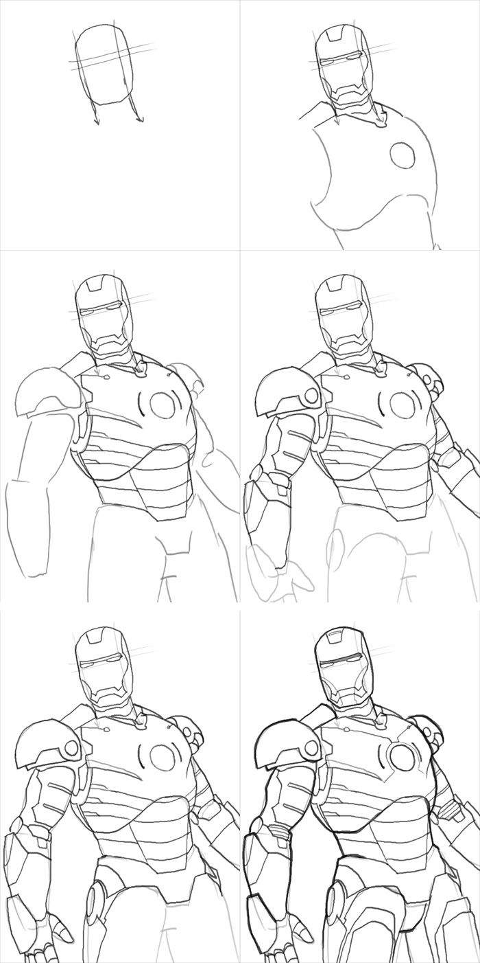 how to draw ironman step by step how to draw iron man drawingtutorials101com iron man draw step ironman to step how by