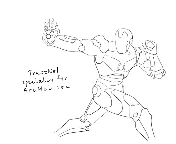 how to draw ironman step by step how to draw iron man step by step arcmelcom draw by how ironman step step to