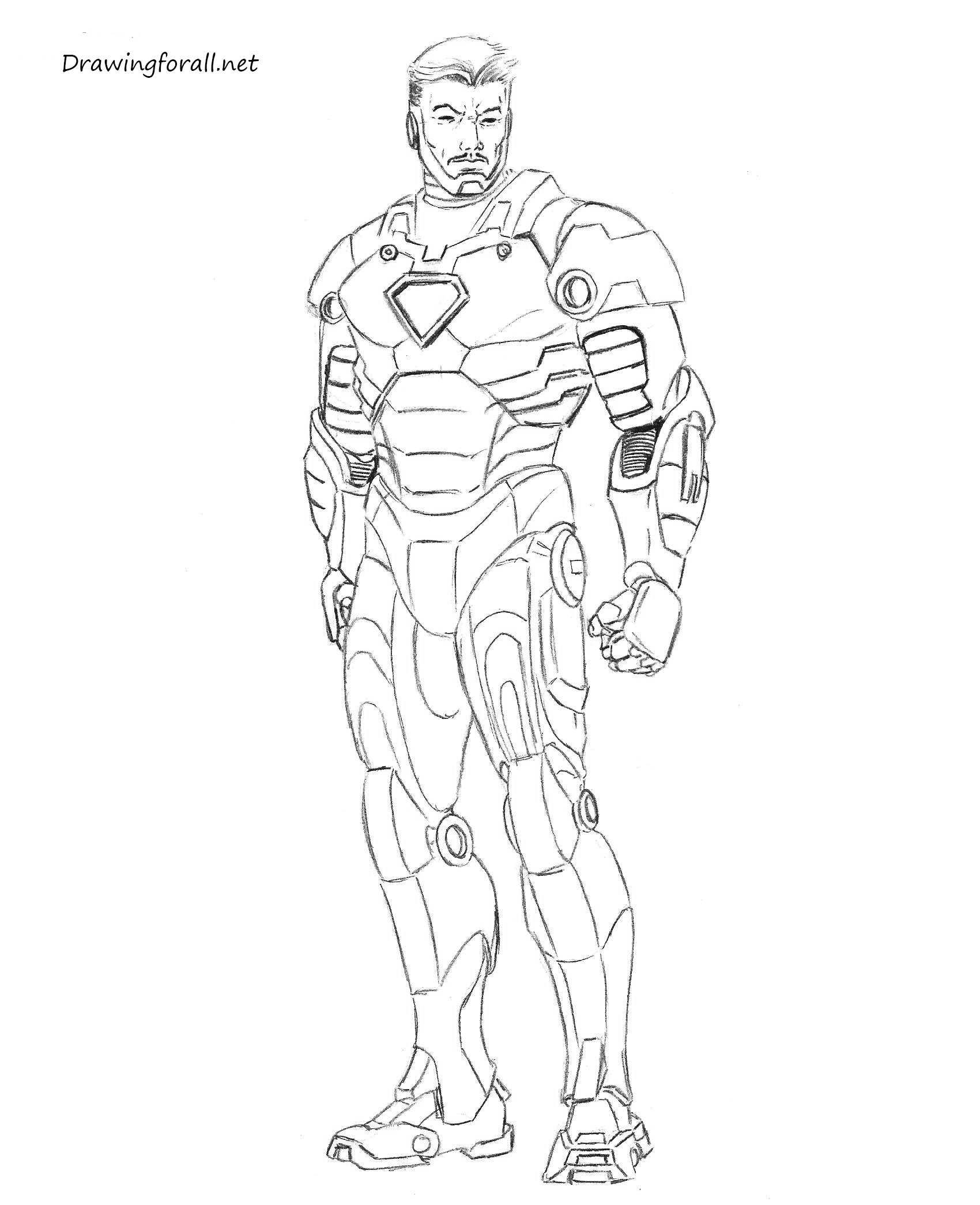 how to draw ironman step by step how to draw iron man step by step drawingforallnet draw to how step ironman by step