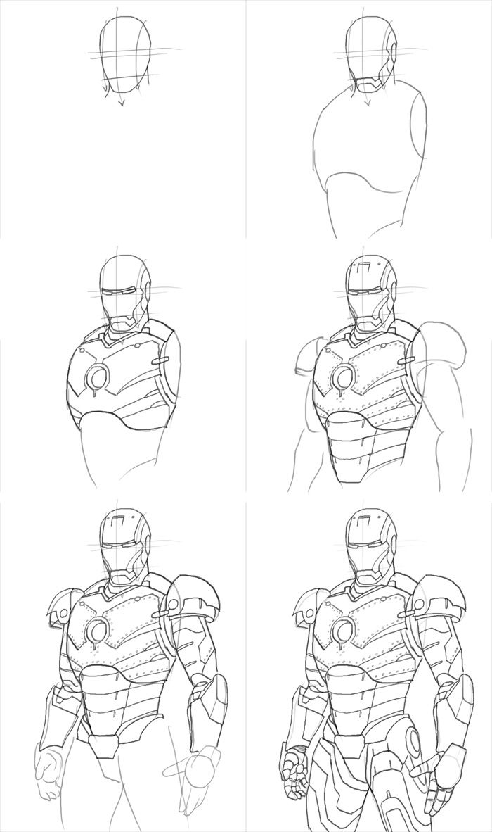 how to draw ironman step by step pin by bella edgington on art marvel drawings step ironman to how draw by step