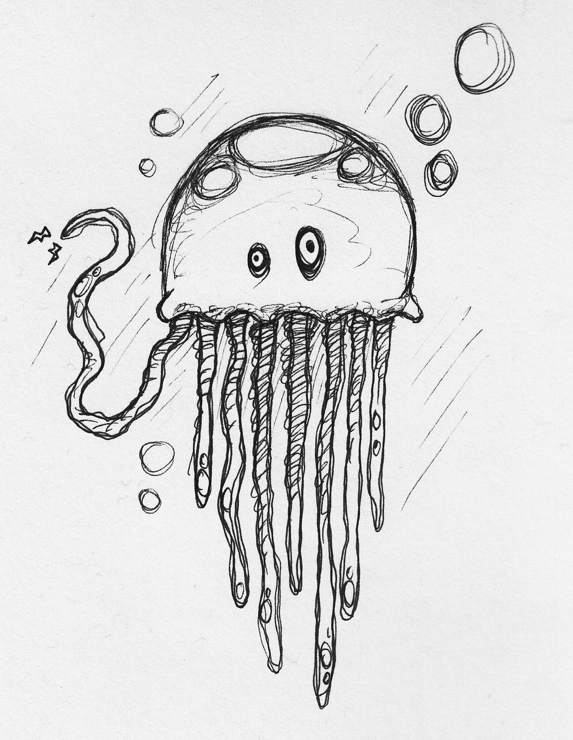 how to draw jellyfish simple jellyfish drawing at getdrawingscom free for how jellyfish draw to