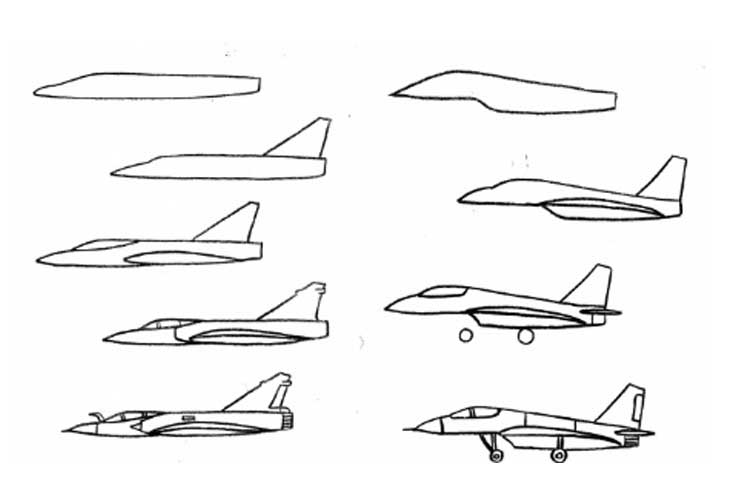 how to draw jet plane airplanes for kids drawing at getdrawings free download to draw jet plane how