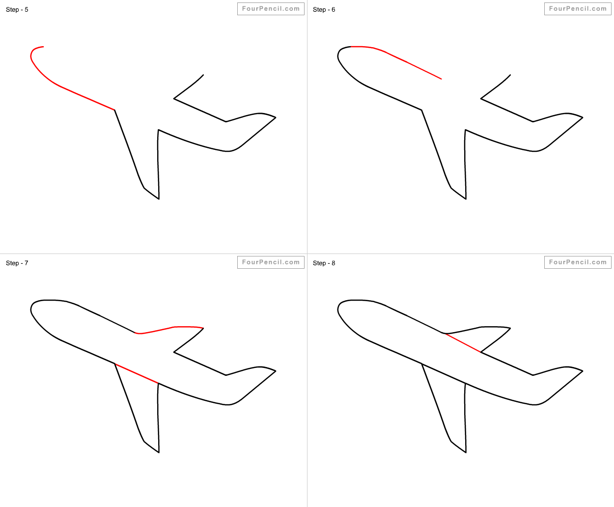 how to draw jet plane learn how to draw flying boeing aeroplane airplanes step plane to jet how draw