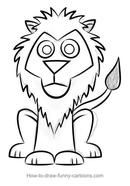how to draw lion cartoon cartoon easy lion face drawing for kids cartoon draw how to lion