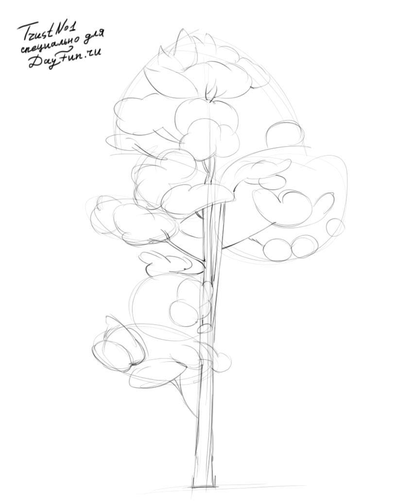 how to draw pine trees step by step pine trees in pencil drawing at getdrawings free download step by draw pine to how trees step