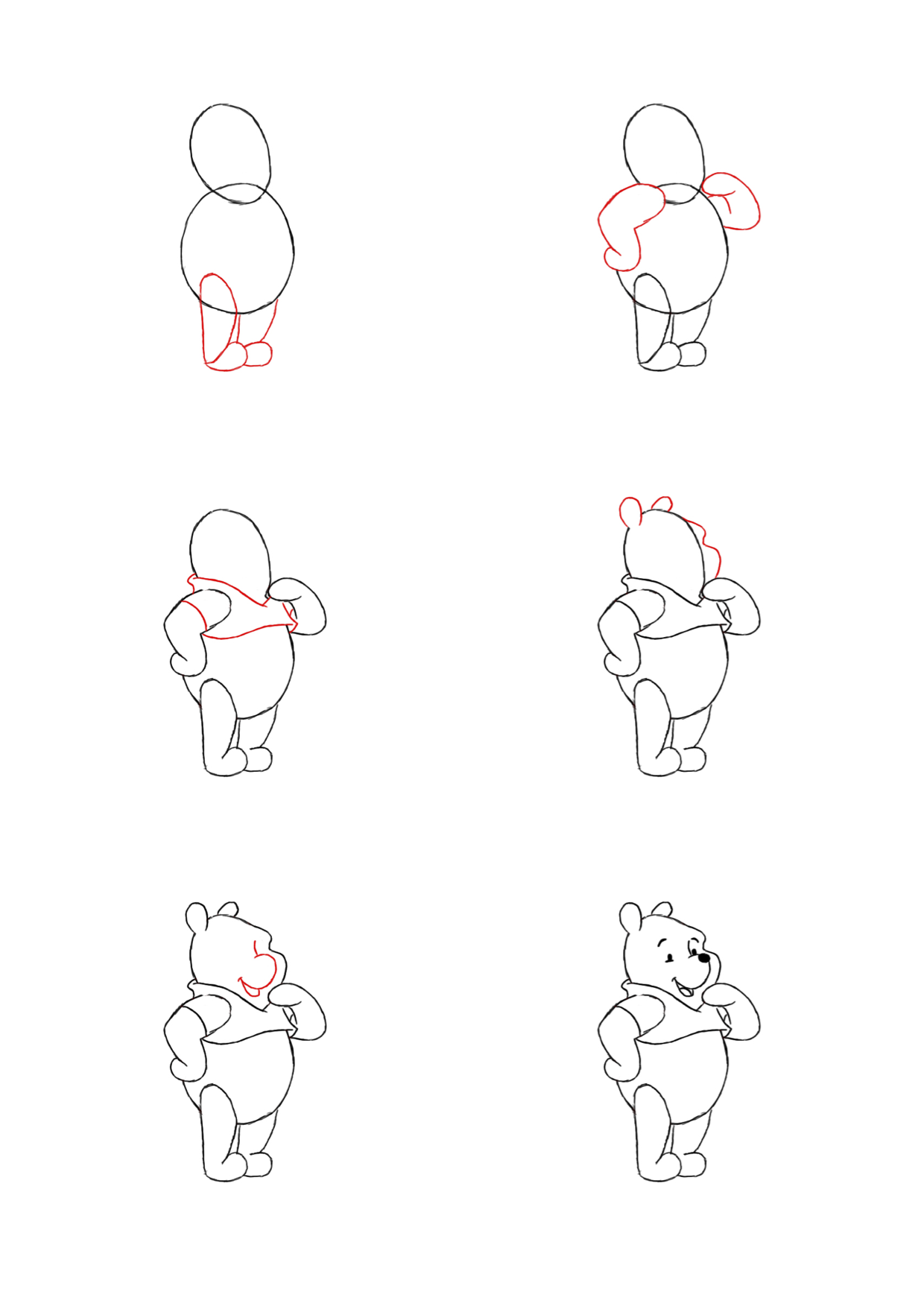 how to draw pooh bear how to draw baby pooh by dawn drawing cartoon characters pooh draw bear to how