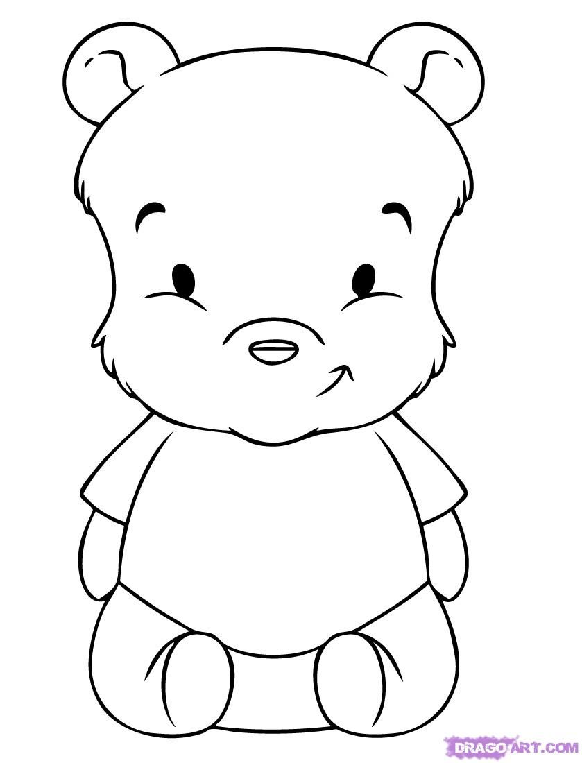 how to draw pooh bear winnie the pooh line drawing at getdrawings free download pooh bear to draw how