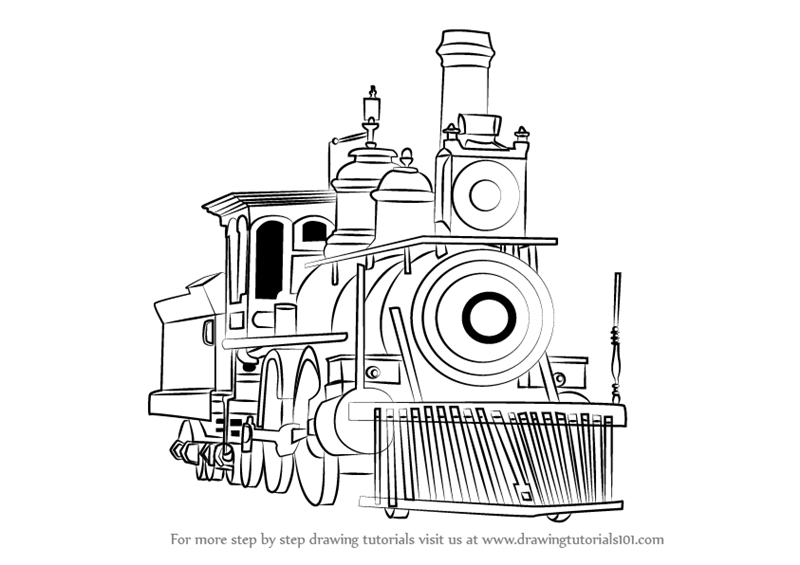 how to draw steam how to draw a classic steam locomotive from scratch how steam to draw