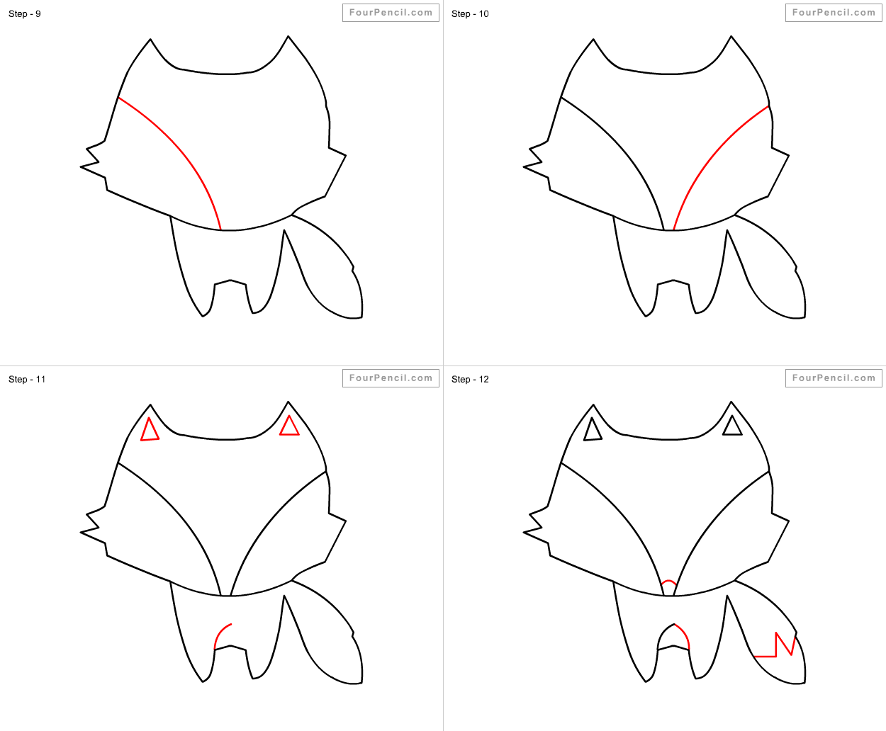 how to draw step by step fpencil how to draw fox for kids step by step step by to step how draw
