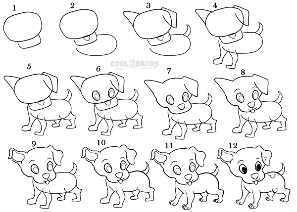 how to draw step by step how to draw a puppy step by step pictures how step draw to by step
