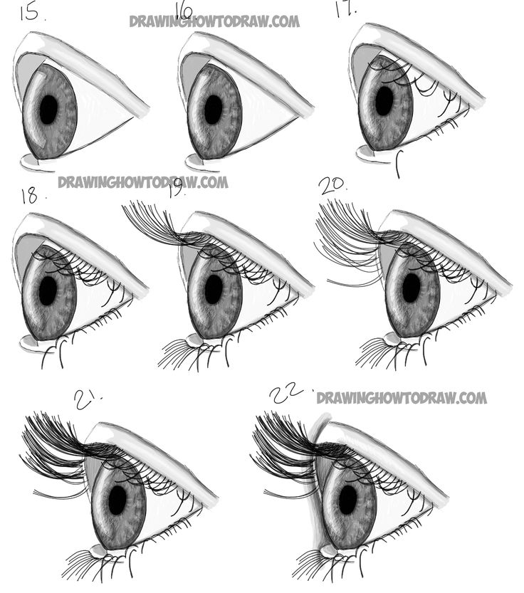 how to draw step by step how to draw realistic eyes from the side profile view to draw step step by how