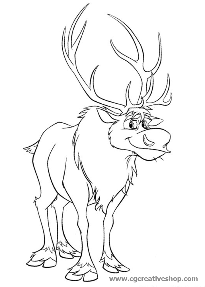how to draw sven from frozen download gratuito sven renna frozen disegni da colorare to draw how from frozen sven