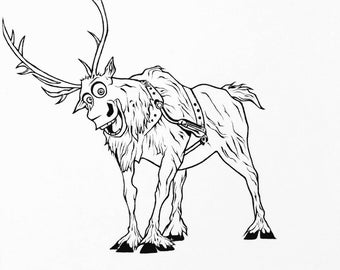 how to draw sven from frozen frozen sven etsy draw to from how frozen sven