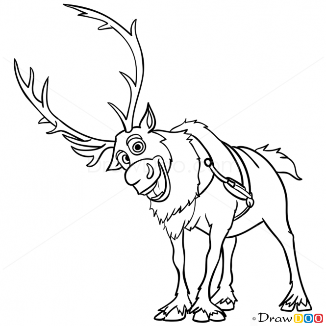 how to draw sven from frozen how to draw sven kristoff39s deer fro step by step frozen how draw sven from to