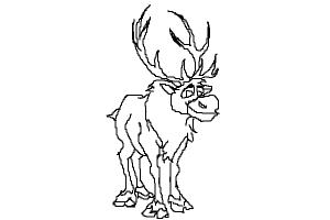 how to draw sven from frozen sven frozen drawing at getdrawings free download how frozen to sven draw from
