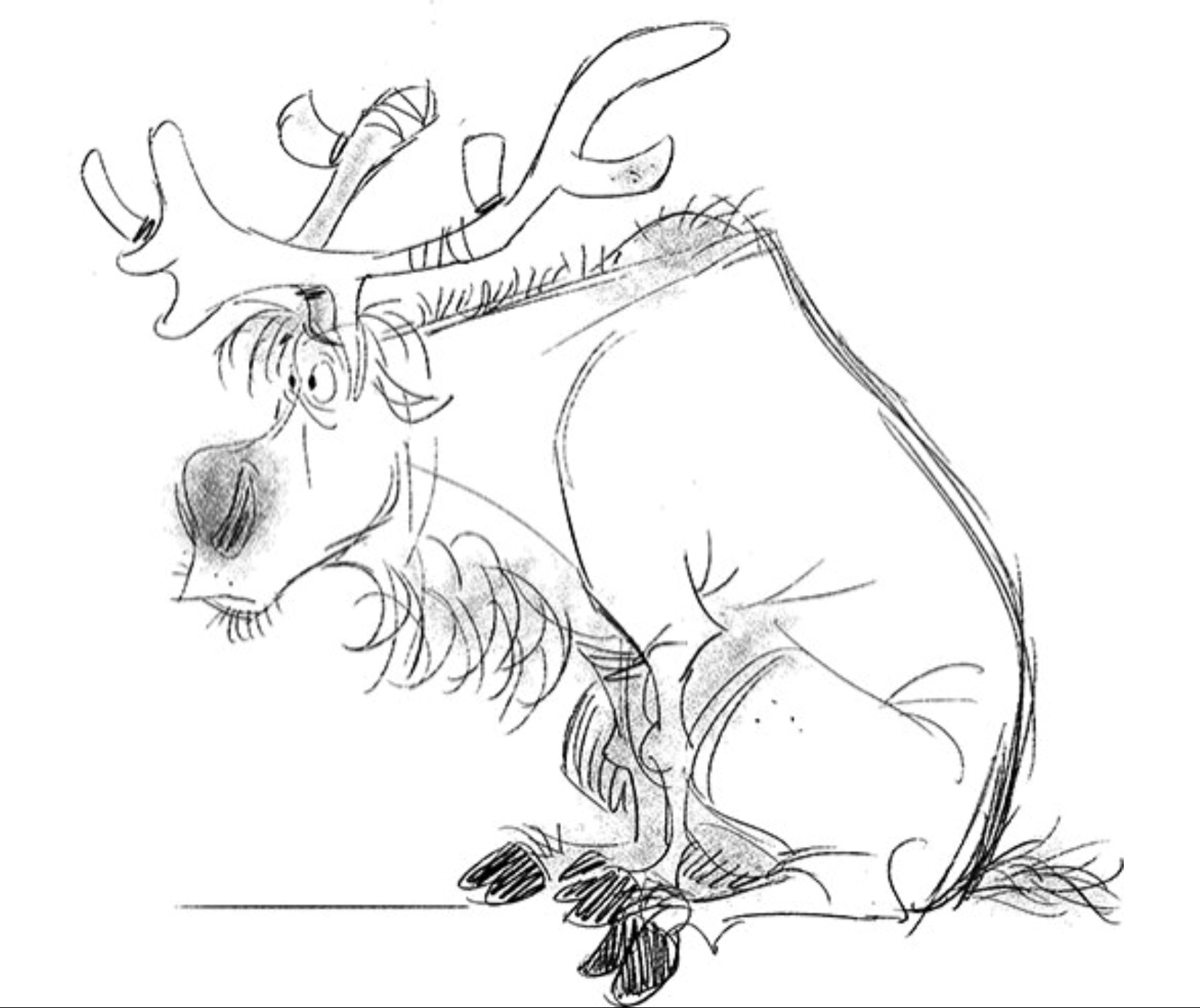 how to draw sven from frozen sven frozen drawing at paintingvalleycom explore to frozen sven draw from how