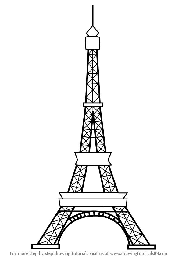 how to draw the eiffel tower cartoon cartoon drawing of the eiffel tower at getdrawings free draw eiffel cartoon how tower the to