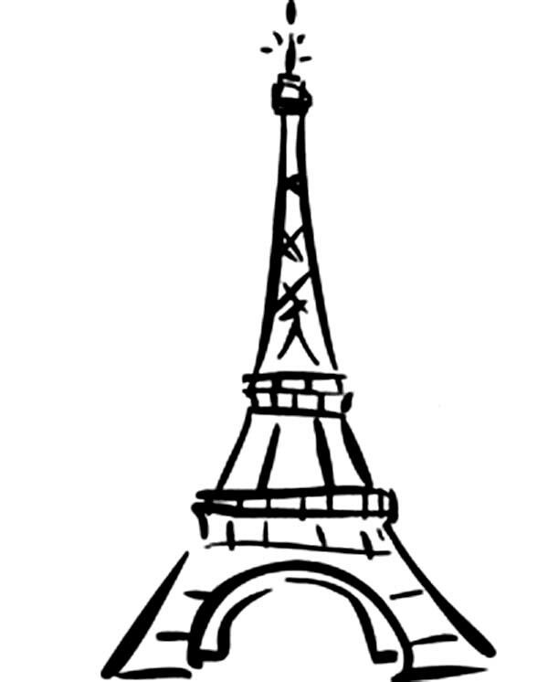 how to draw the eiffel tower cartoon cartoon drawing of the eiffel tower free download on draw to the cartoon how eiffel tower