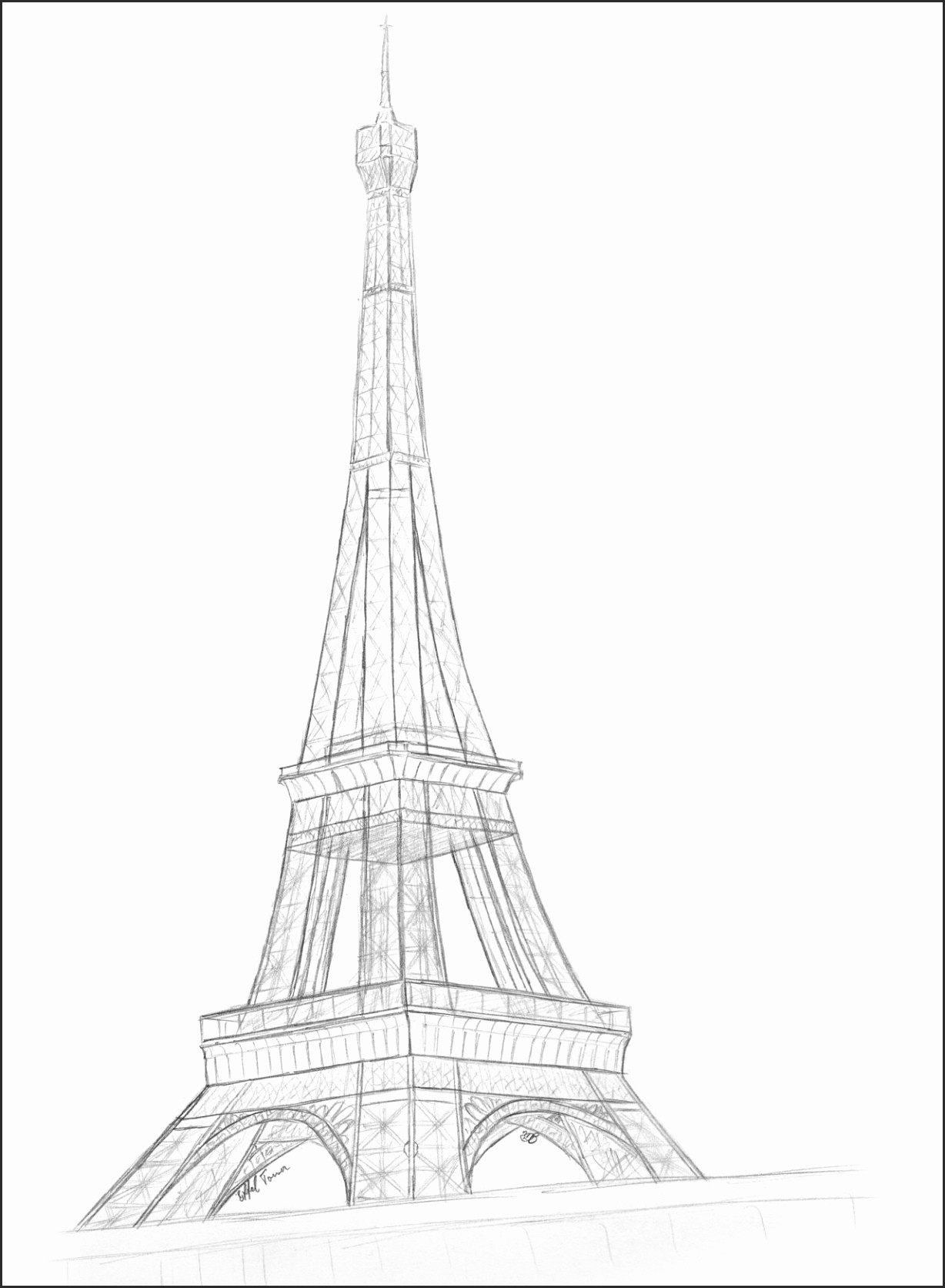 how to draw the eiffel tower cartoon eiffel tower drawing easy clipart smithcoreview tower how cartoon to eiffel the draw