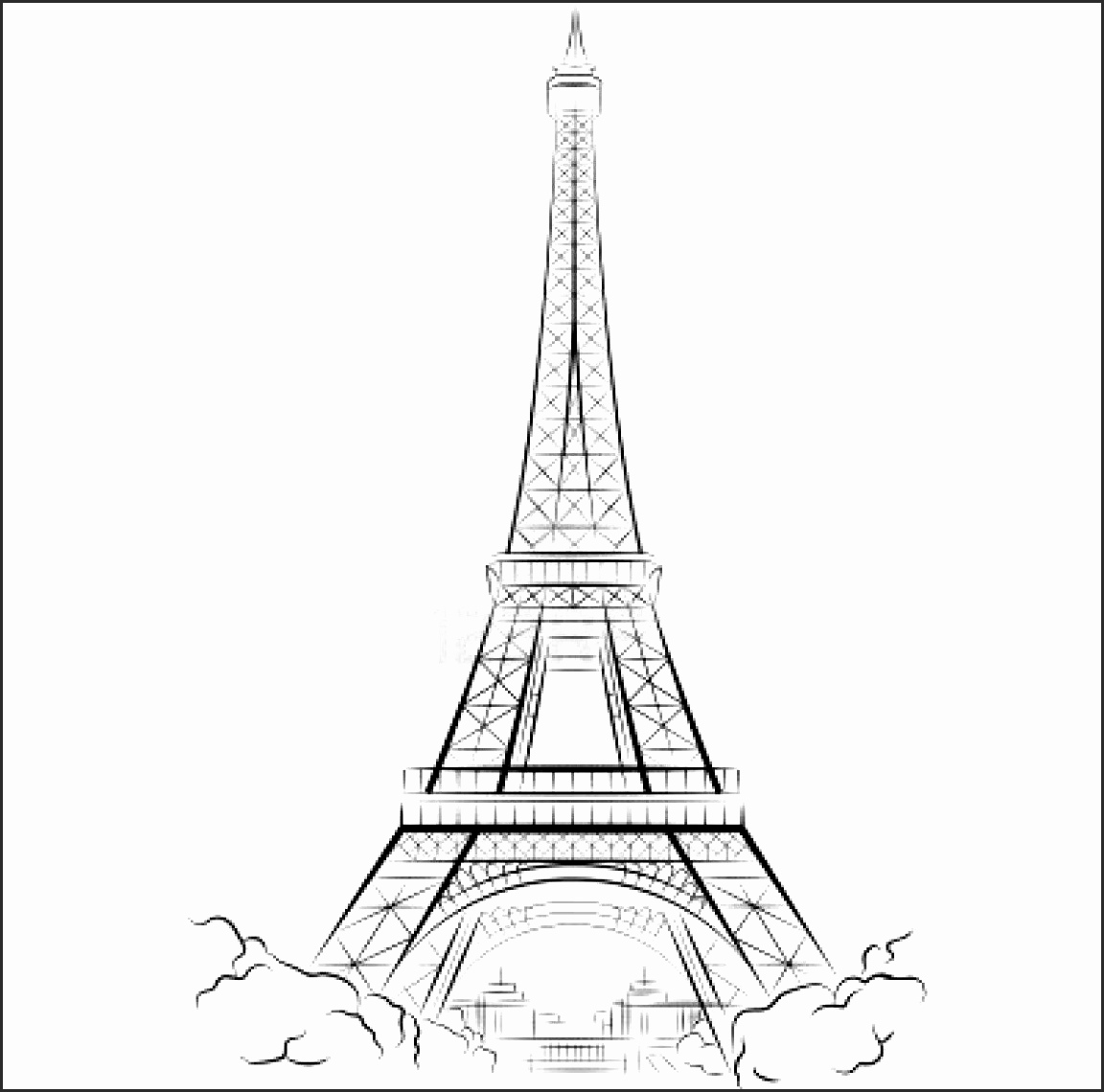 how to draw the eiffel tower cartoon in a few easy steps drawing guides easy draw eiffel to tower eiffel how cartoon draw the