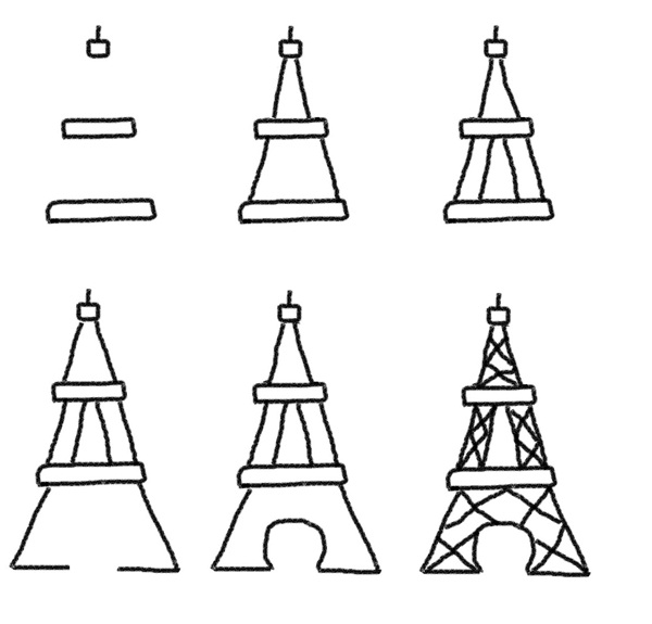 how to draw the eiffel tower cartoon learn how to draw an eiffel tower wonders of the world eiffel how draw cartoon tower the to