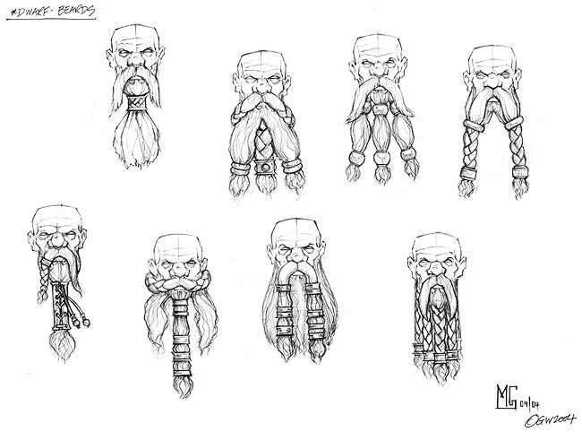 how to draw the hobbit characters beards photo dwarfbeardsjpg drawings concept art how to the characters draw hobbit