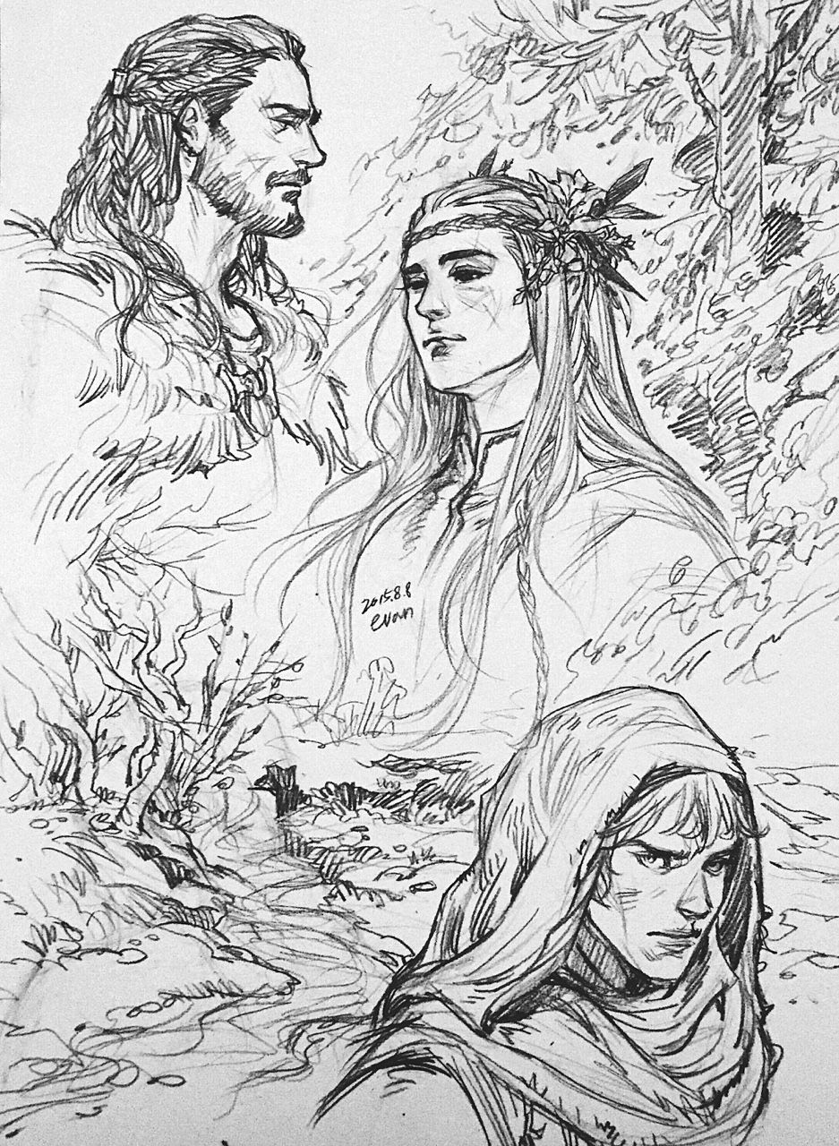 how to draw the hobbit characters let39s storyboard tauriel the hobbit legolas lotr draw how hobbit the to characters