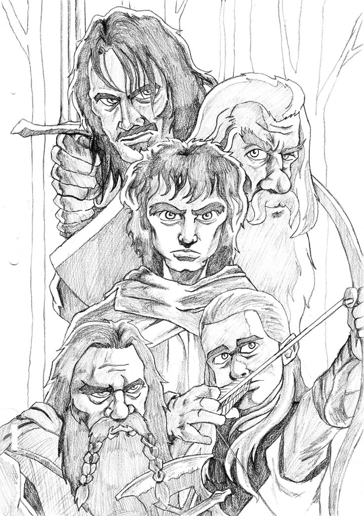how to draw the hobbit characters the hobbit drawing by kansineedegraefart on deviantart draw hobbit how to characters the
